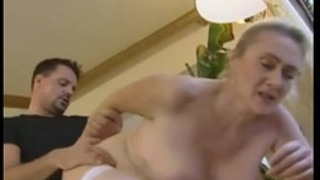 German golden-haired aged anal and creampie