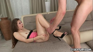 Teen stefanie conquers with her taut anal opening