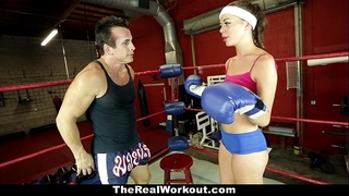 Therealworkout - excited dark brown screwed in the gym