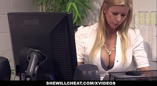 Shewillcheat - breasty milf boss copulates recent employee
