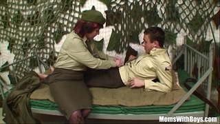 Pierced love tunnel senior army officer reprimands a soldier