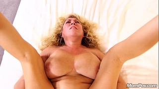 Busty natural milf acquires anal ball batter pie