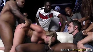 Brooke wylde receives team-fucked in a club