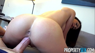 Propertysex - sexy body real estate agent copulates renter