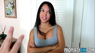 Propertysex - panty sniffing landlord copulates sexy latin chick tenant with large wang