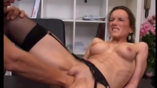 Horny milf fisted gazoo screwed and jizzed in her face