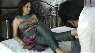 Indian slut in churidar foot worship