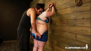 Bbw eliza allure likes wobblers slapped and screwed