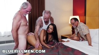 Blue pill males - 3 old dudes and a latin white wife named nikki kay