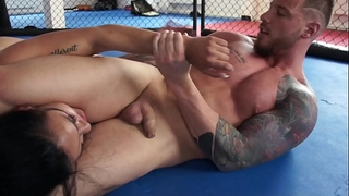 Nude battle of the sexes - woman in peril! milana vs. erik