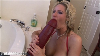 Busty golden-haired milf zoe fills her bawdy cleft with a massive marital-device