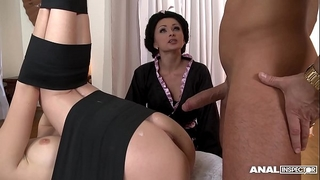 Japanese sort anal three-some with geishas ivana sugar and alice