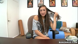 Bangbros - juvenile and skinny oriental beauty arial rose receives a facial
