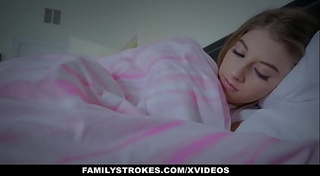 Familystrokes - cuddling and fucking scared stepdaughter whilst white women sleeps