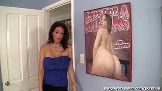 Busty stepmom rides her stepson's large 10-Pounder!