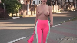 Cameltoe - i wore constricted yoga panties in public