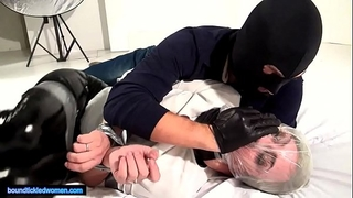 Ammalia handsmothered tied tickled and suffocated by a chap in balaclava